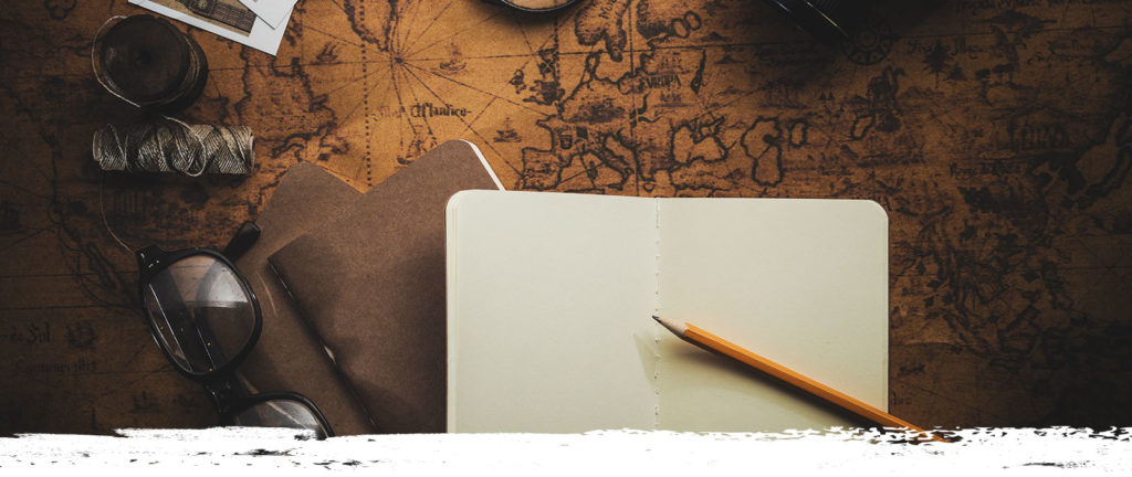 antique-map-with-notebook